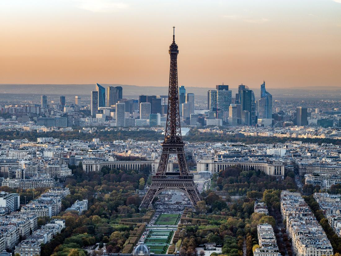 Tour Eiffel from Tour Montparnasse